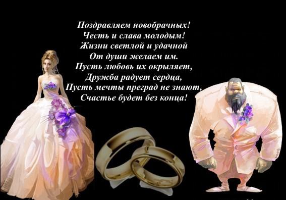 Прикольные поздравления на свадьбу немолодым
